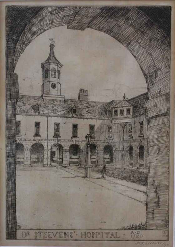 wilsons drawing of Dr Steevens' Hospital